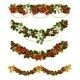 Green Christmas Garlands of Holly - GraphicRiver Item for Sale