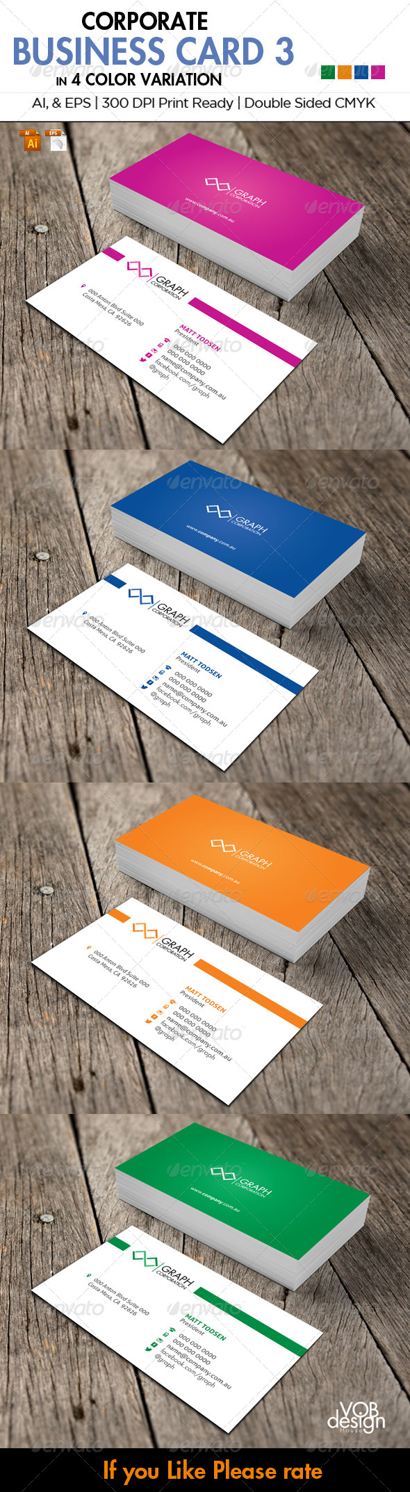 Corporate Business Card 3 - Corporate Business Cards