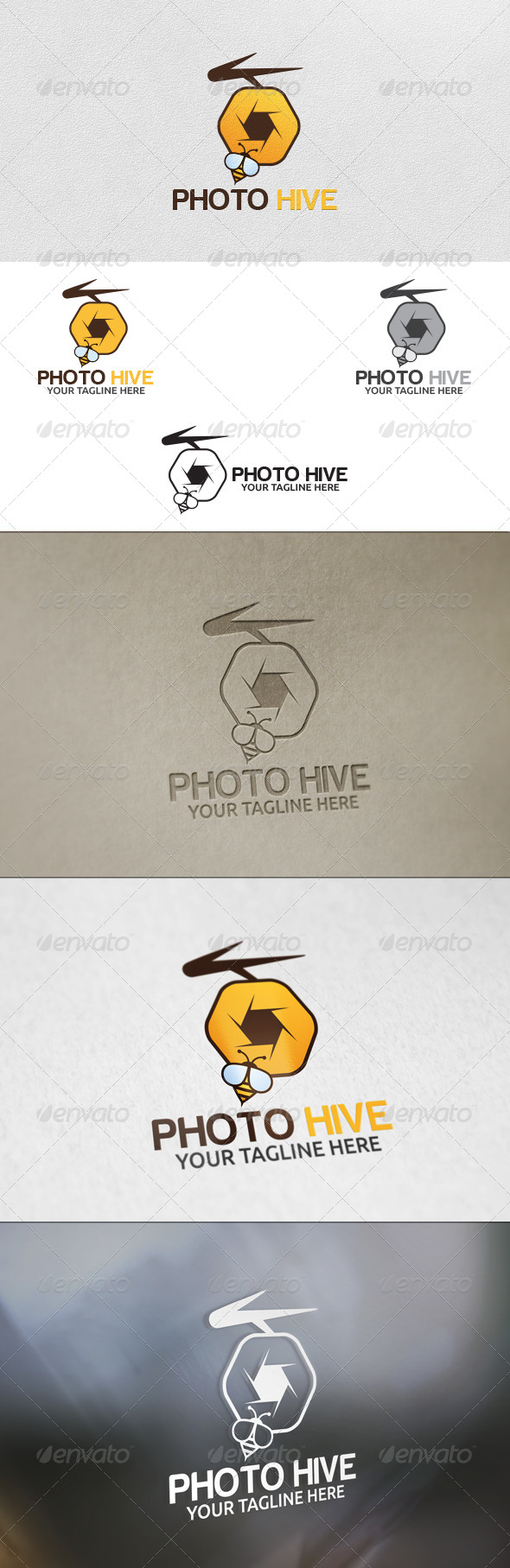 Photo Hive - Logo Template - Nature Logo Templates