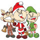 Christmas Mascots - Santa Reindeer Elf - 37 Piece - GraphicRiver Item for Sale