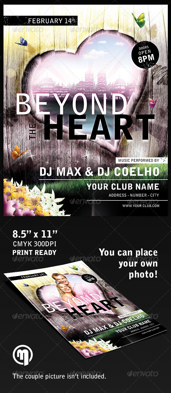 Beyond the Heart Flyer Template - Holidays Events