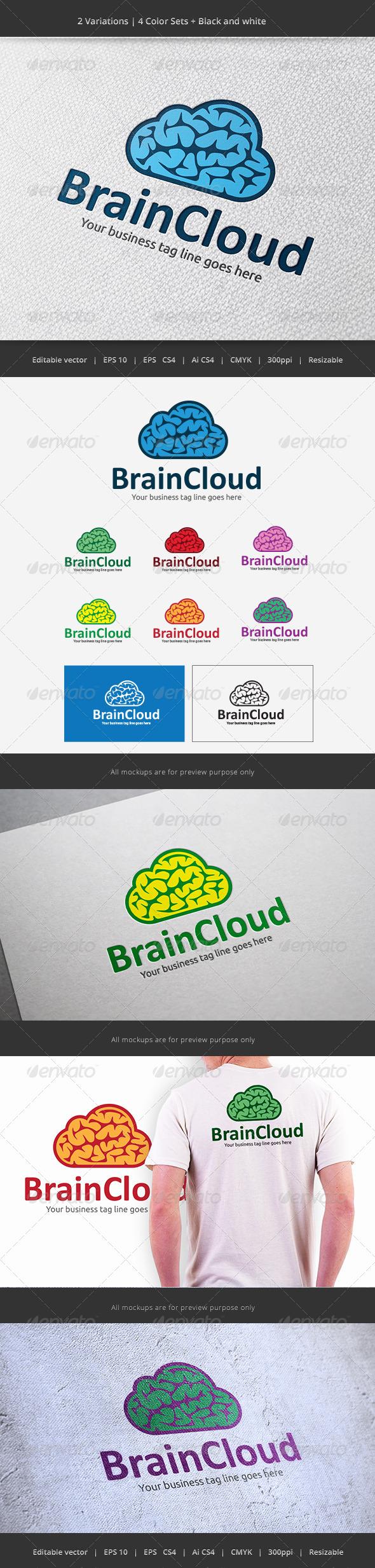 Brain Cloud - Objects Logo Templates