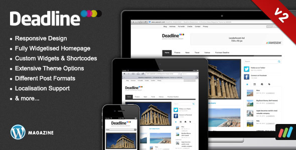 Deadline - Responsive WordPress News / Magazine Theme