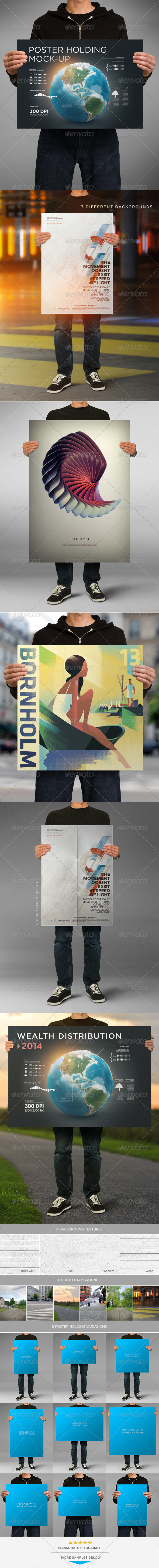 Poster Holding Mock-up - Posters Print