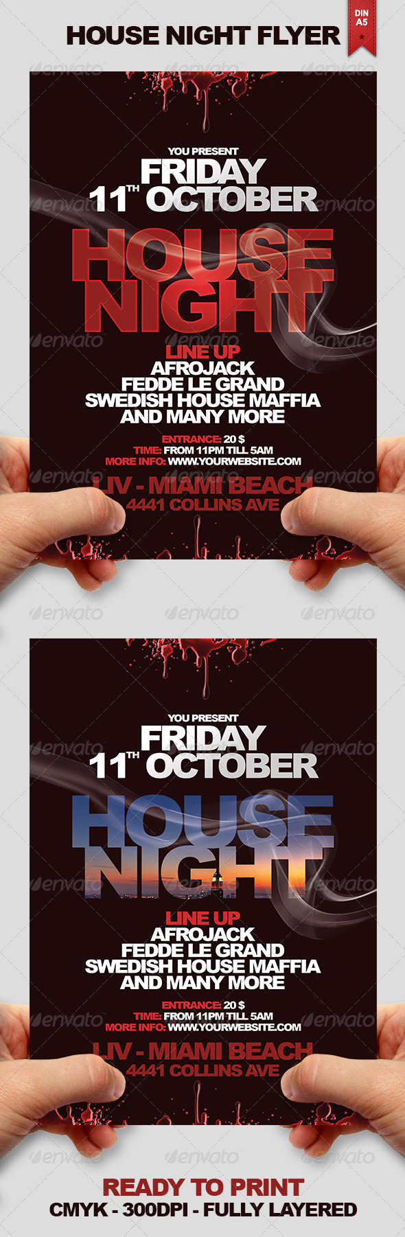 House Night Flyer - Events Flyers