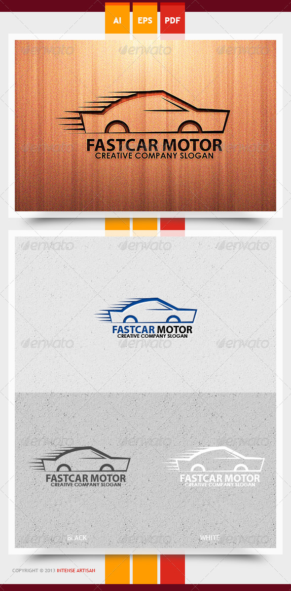 Fast Car Motor Logo Template - Objects Logo Templates