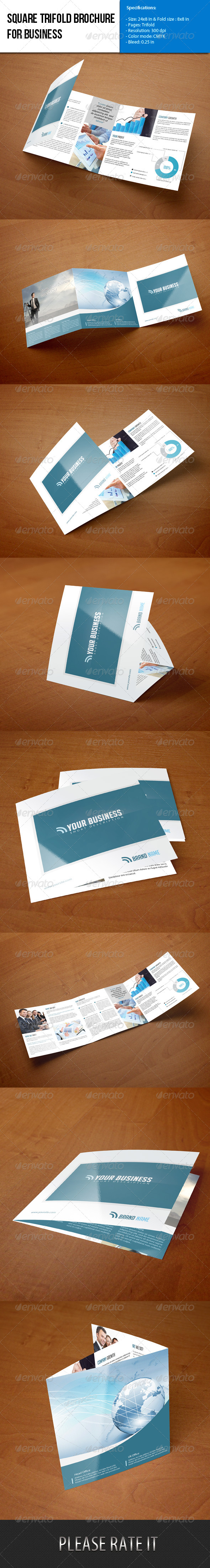 Square Trifold Brochure-Business - Corporate Brochures