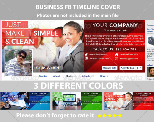 Corporate Facebook Timeline - Facebook Timeline Covers Social Media