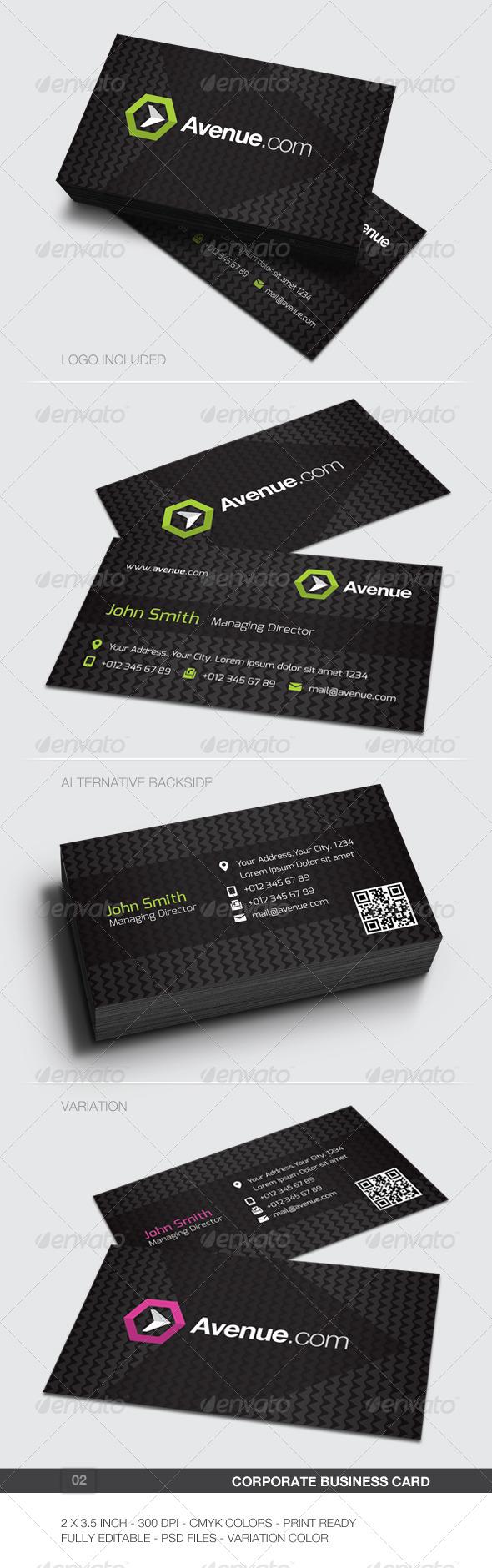 Corporate Business Card - 02 - Corporate Business Cards