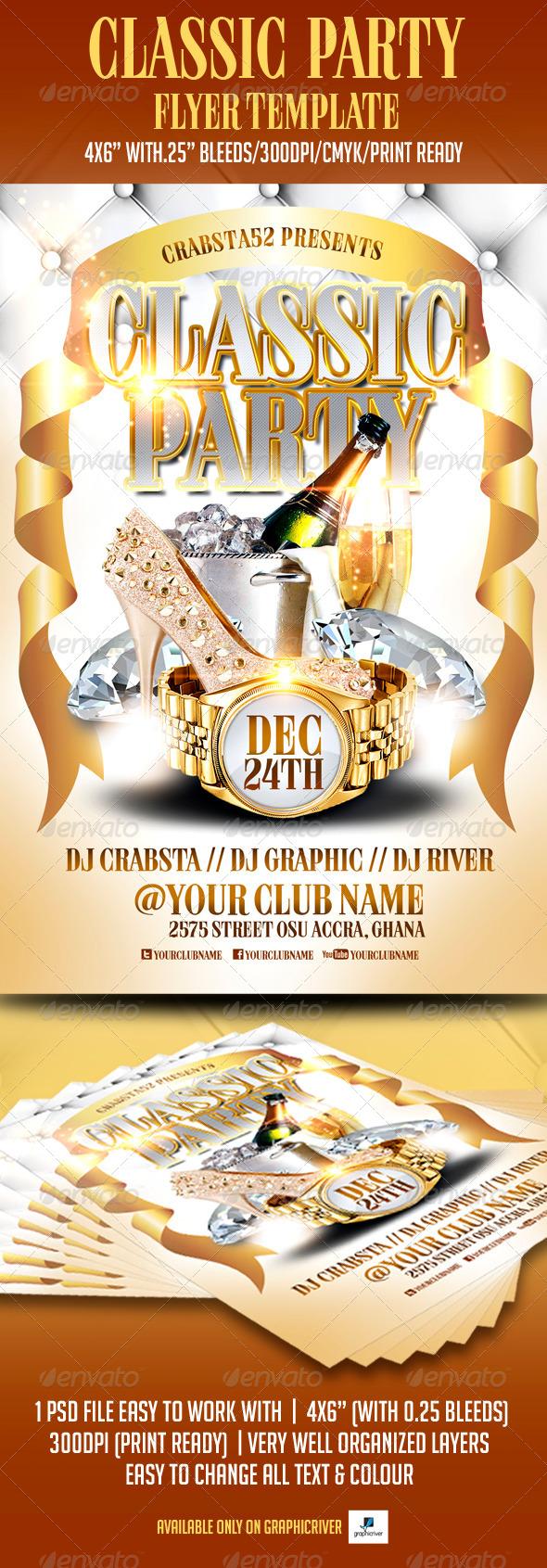 Classic Party Flyer Template - Clubs & Parties Events