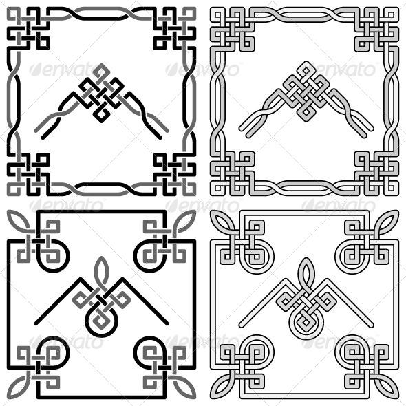 Celtic Knots Corners Set - Borders Decorative