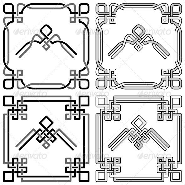 Celtic Knots Corners Set 2 - Borders Decorative