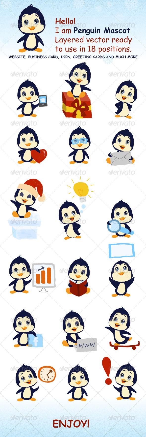 Penguin Mascot - Animals Characters