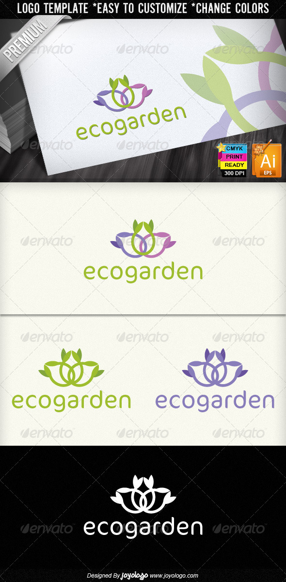 Eco Garden Ecology Colorful Floral Logo Design - Nature Logo Templates