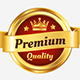 Set Of Golden Premium Badges - GraphicRiver Item for Sale