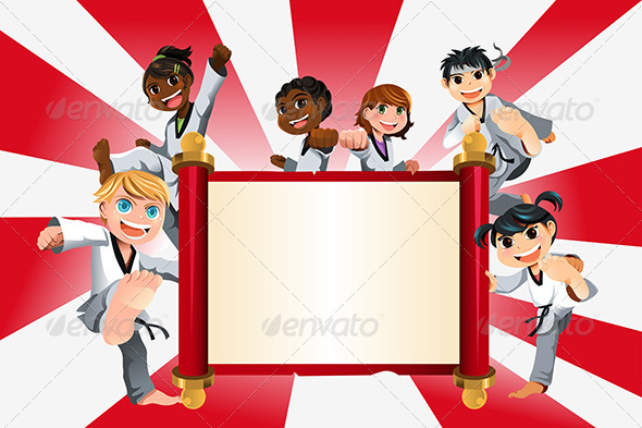 Karate Kids Banner - Sports/Activity Conceptual