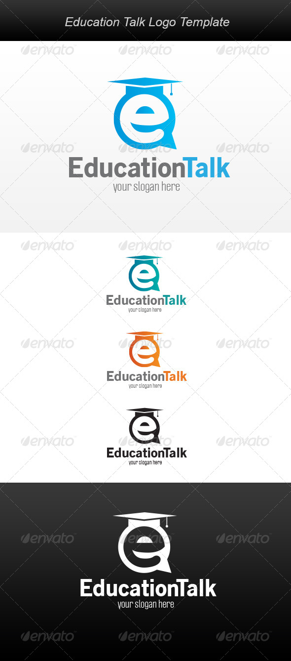 Education Talk Logo - Letters Logo Templates