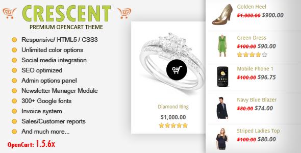 Crescent - Premium Responsive OpenCart Theme