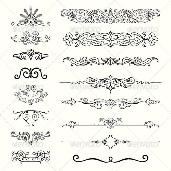 Design Elements - Flourishes / Swirls Decorative