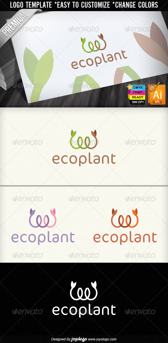 Eco Plant Ecology Organic Colorful Logo Design - Nature Logo Templates