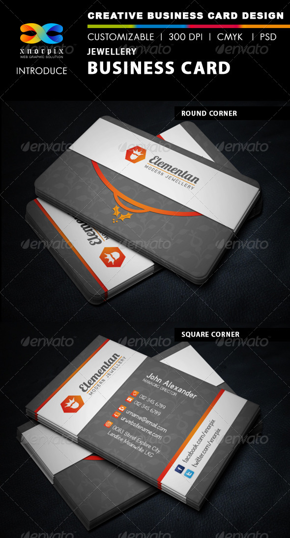 Jewellery Business Card - Corporate Business Cards