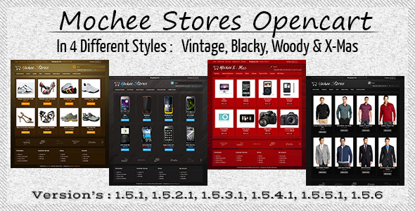 Free Download Mochee Stores Opencart 1.5 Template Nulled Latest Version