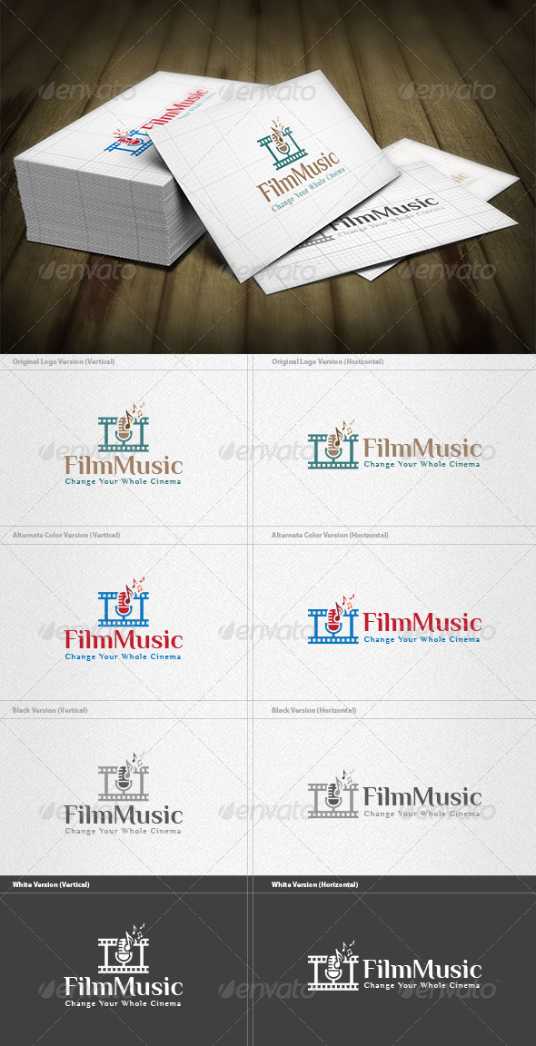 Film Music Logo - Symbols Logo Templates