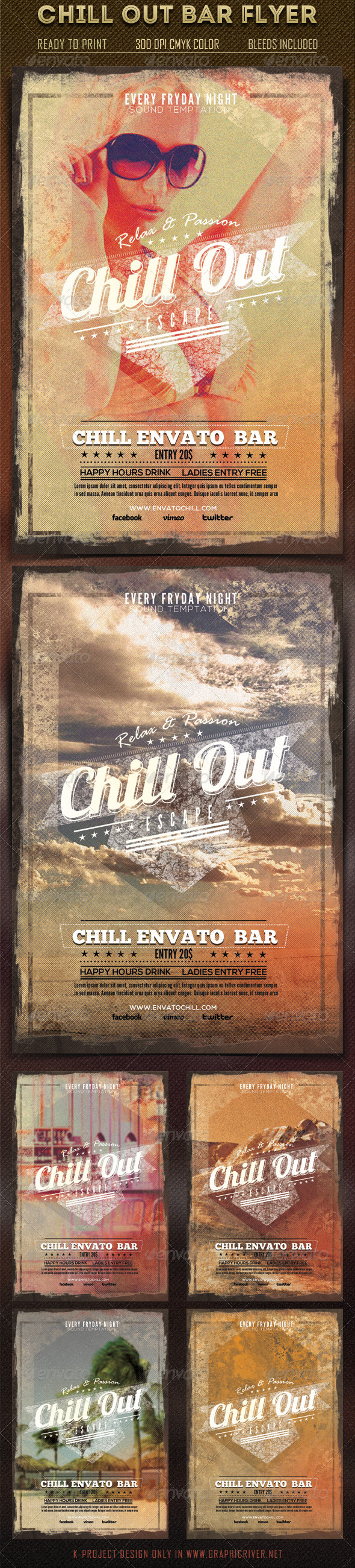 Chill Out Bar Flyer - Clubs & Parties Events