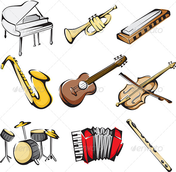 Musical Instruments Icons - Objects Icons