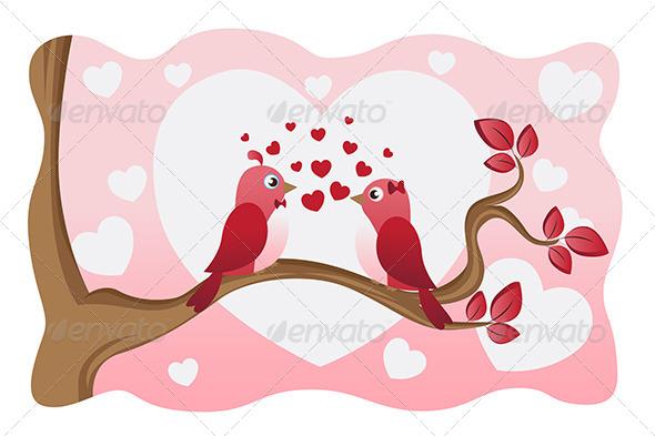 Love Birds - Decorative Vectors