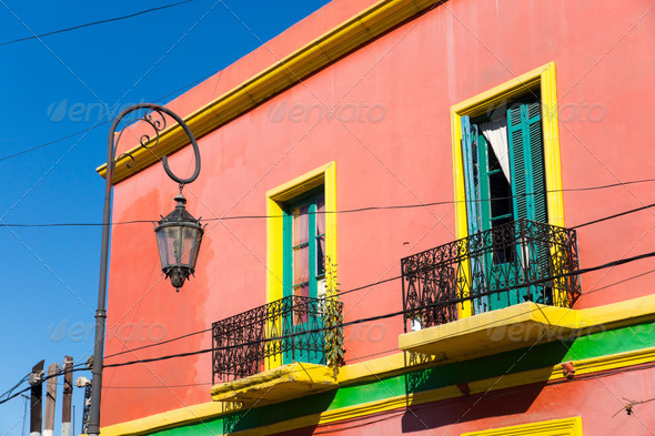 Colourful house in La Boca - Stock Photo - Images