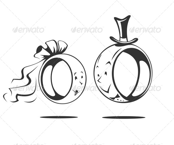 Bride and Groom Wedding Ring - Weddings Seasons/Holidays