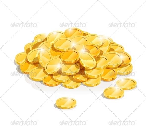 Golden Coin Heap - Concepts Business