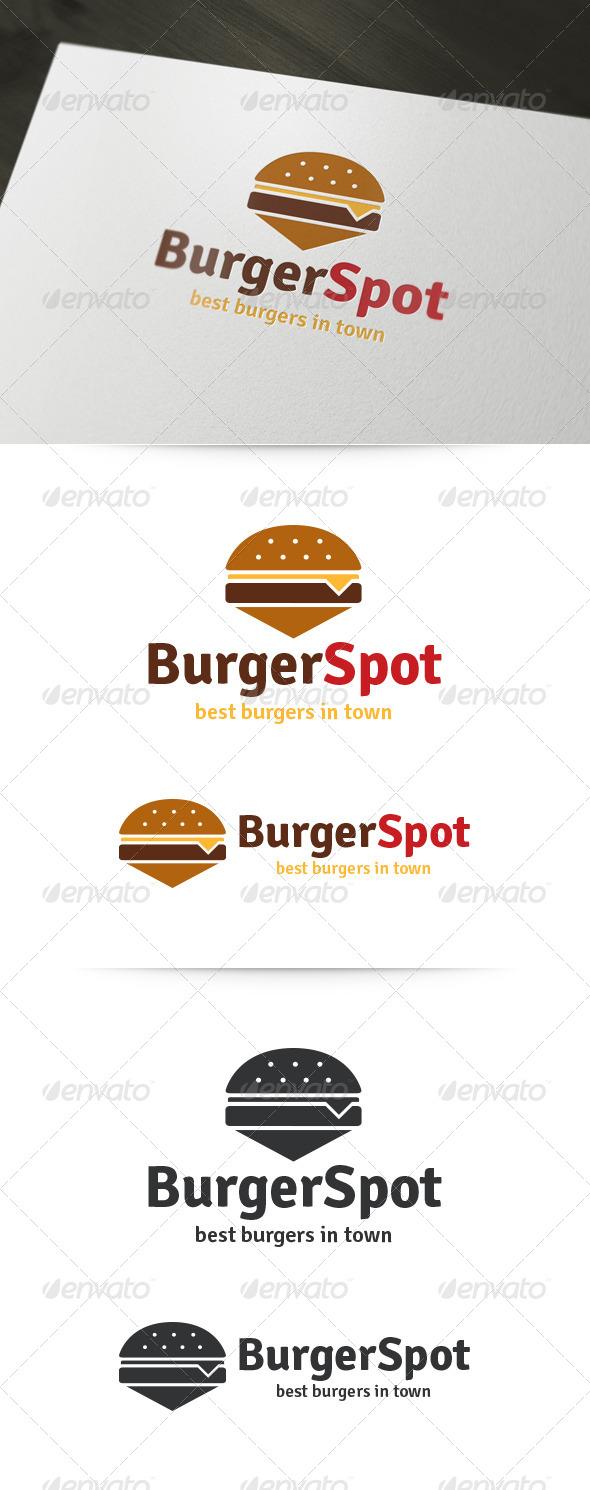 Burger Spot Logo - Food Logo Templates