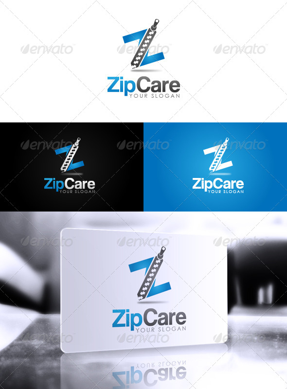 Zip Care Logo - Letters Logo Templates