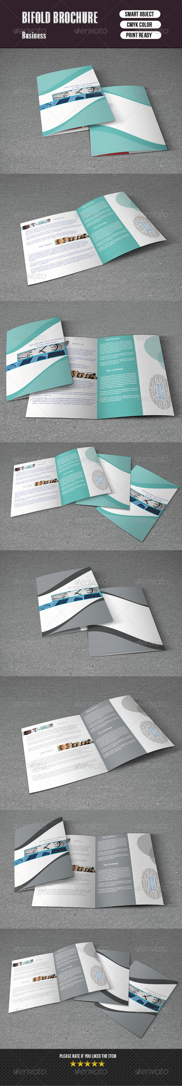 Bifold Brochure For Business - 2 Color Version - Corporate Brochures