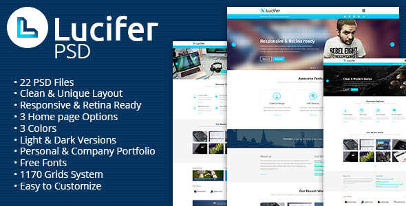 Lucifer – Multipurpose PSD Theme