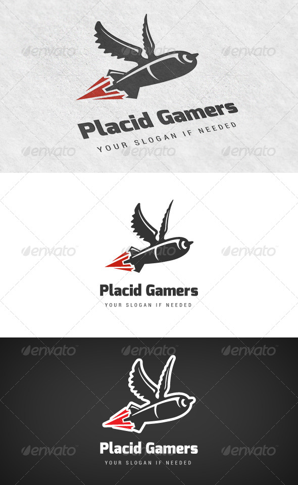 Placid Gamers - Gaming Logo - Objects Logo Templates