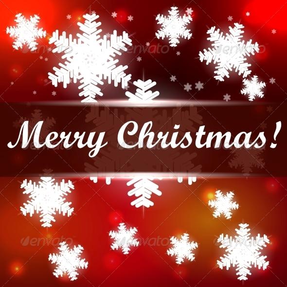 Christmas Background with Snowflakes - Christmas Seasons/Holidays