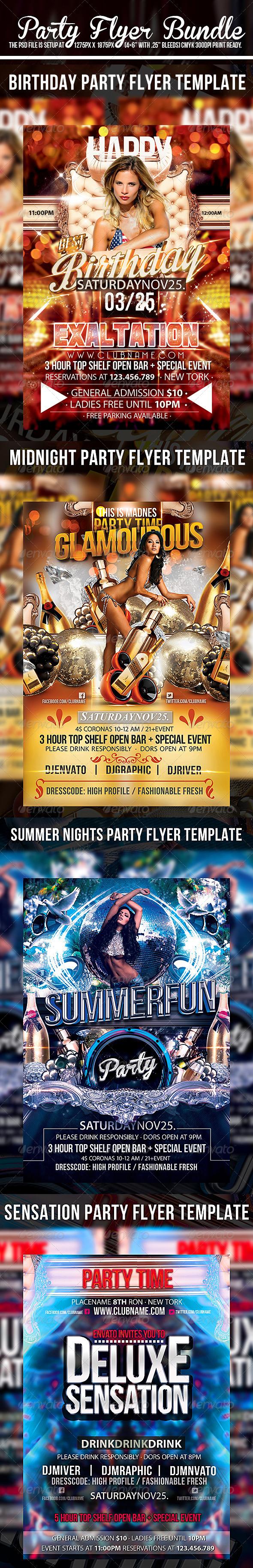 Party Flyer Bundle V2 - Events Flyers