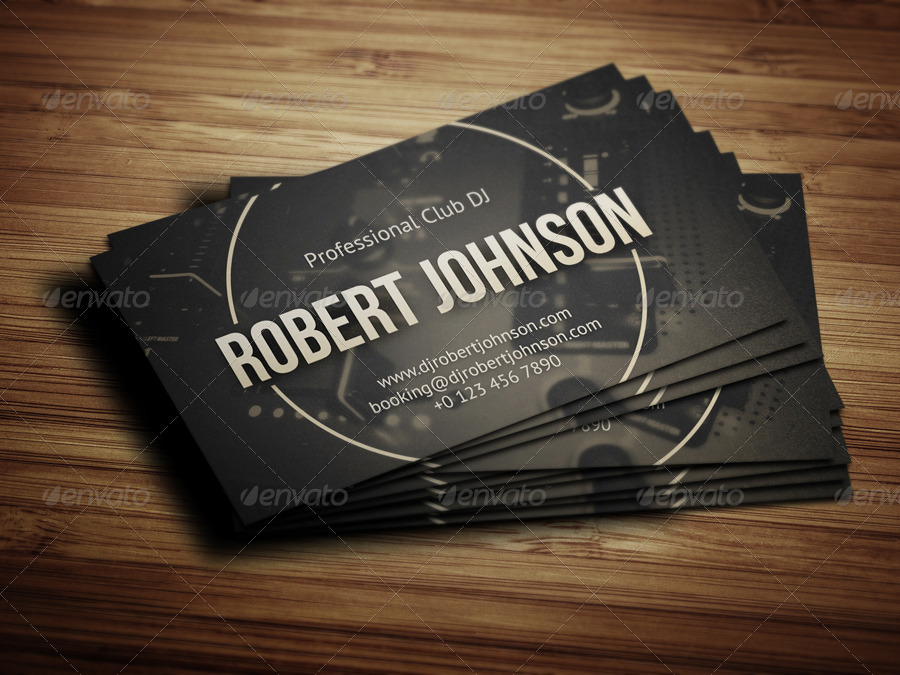DJ Business Card by vinyljunkie | GraphicRiver