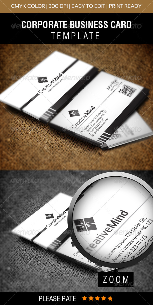 Creative Mind Business Card - Corporate Business Cards