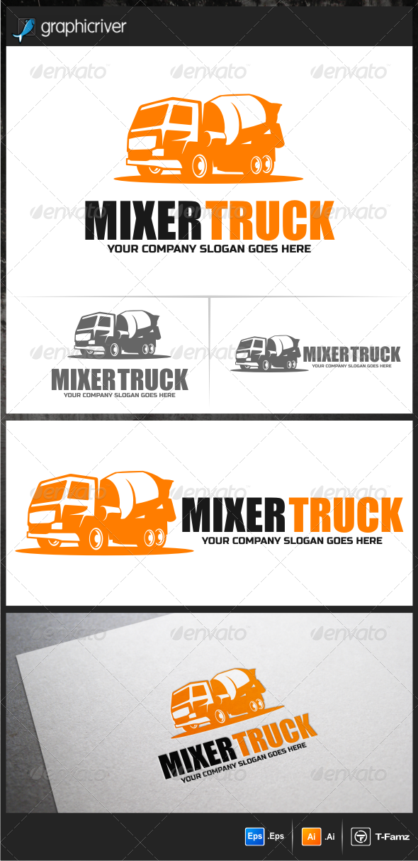 Mixer Truck Logo Templates - Objects Logo Templates