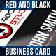 Red and Black - Business Card - GraphicRiver Item for Sale