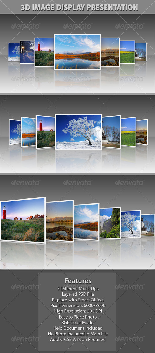3D Image Display Presentation - Miscellaneous Photo Templates
