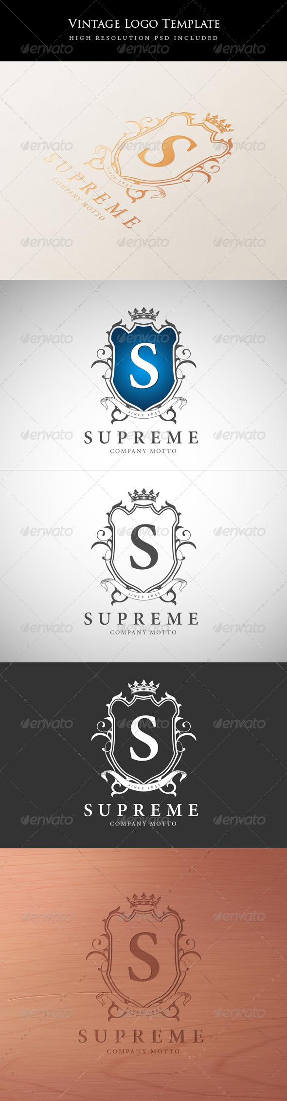 Vintage Logo Template - Crests Logo Templates