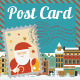Merry Christmas Post Card - GraphicRiver Item for Sale