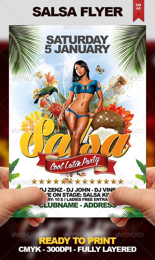 Salsa Flyer - Clubs & Parties Events