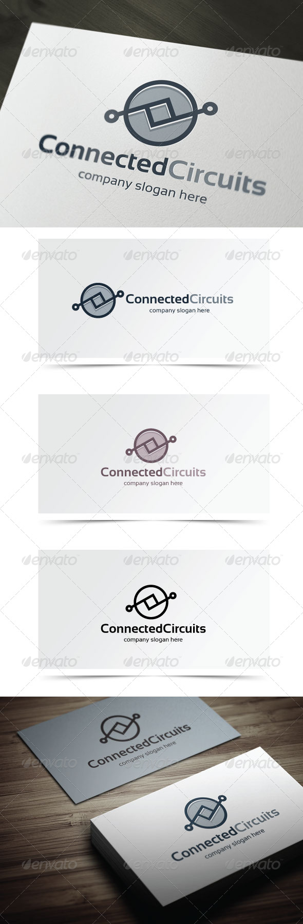 Connected Circuits - Abstract Logo Templates