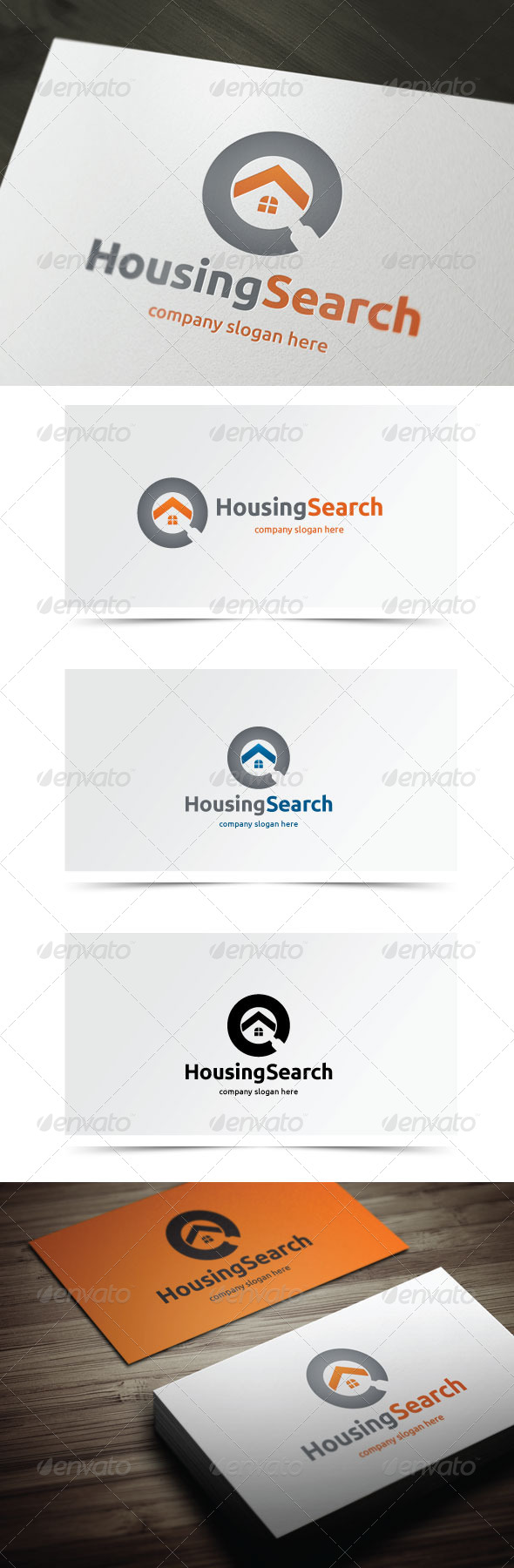 Housing Search - Buildings Logo Templates